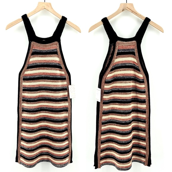 Free People Dresses & Skirts - NWT Free People Black Comb Stripe Dress - Size XS